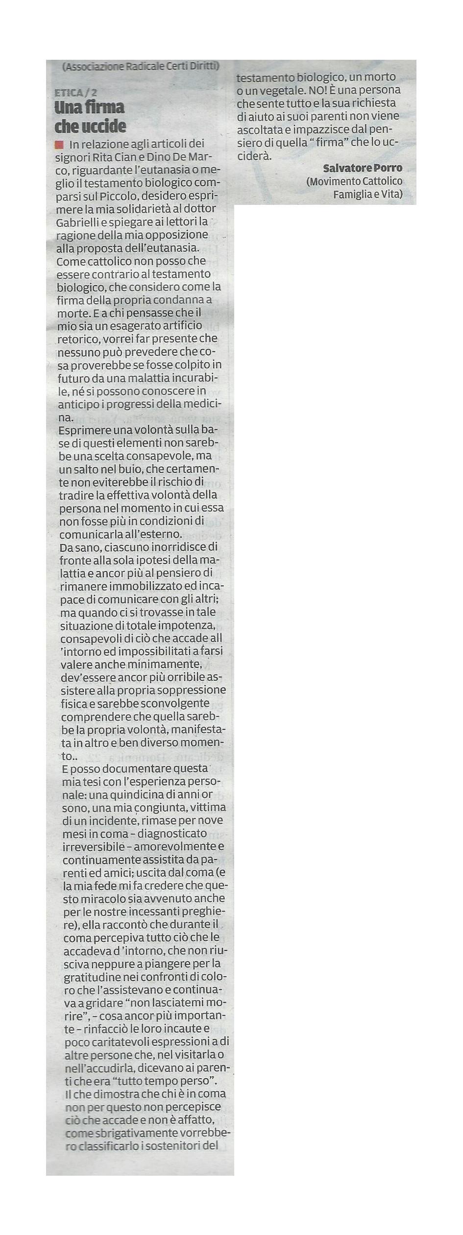 2013-09-12 Il Piccolo pagina 34 Intervento Porro