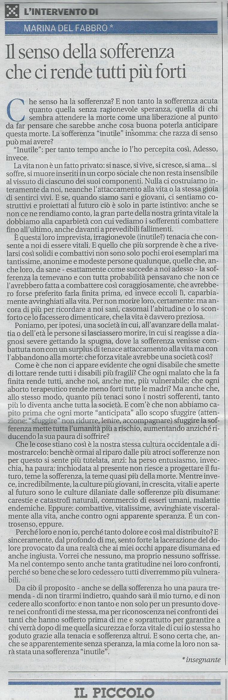 2013-09-20 Il Piccolo pagina 34 Intervento Del Fabbro