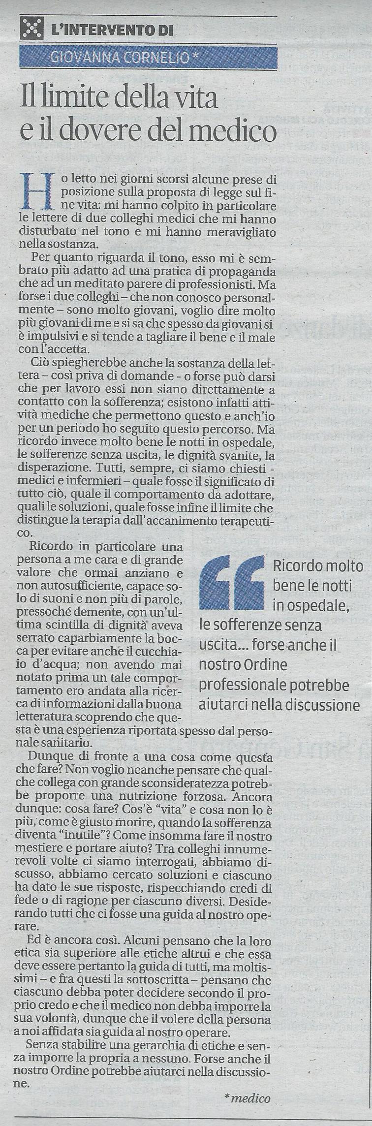 2013-09-21 Il Piccolo pagina 34 Intervento Cornelio