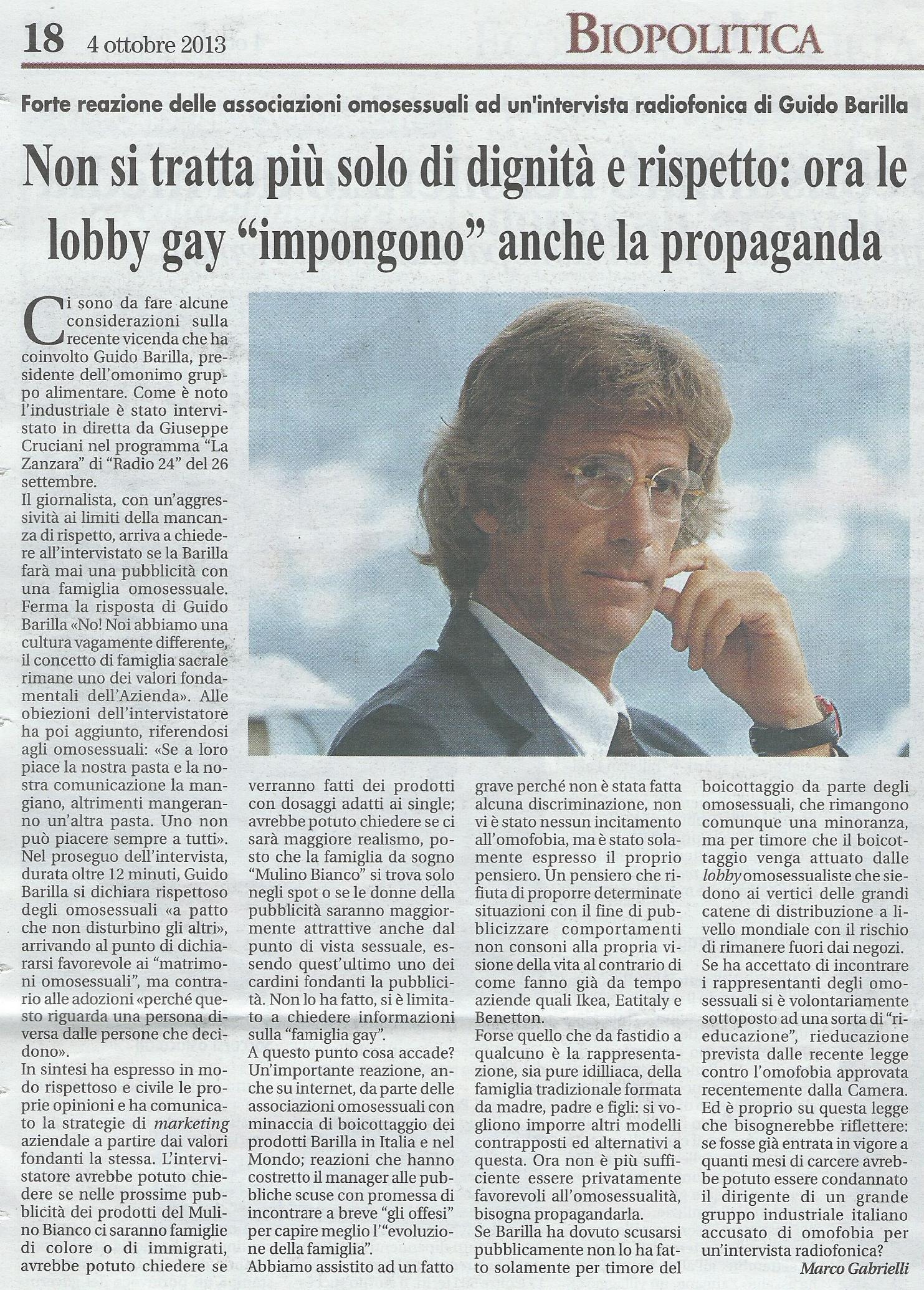 2013-10-04 Vita Nuova pagina 18 Su caso Barilla