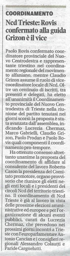 2014-03-18 Coordinamento NCD Trieste