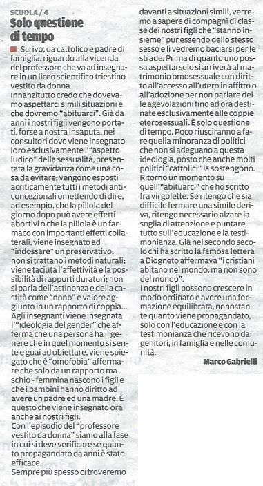 2014-06-07 Il Piccolo pagina 31 Segnalazione Gabrielli