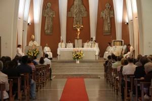 La Chiesa di San Pio X durante la predica di Mons. Giampaolo Crepaldi