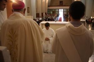 David Giovannini durante il rito