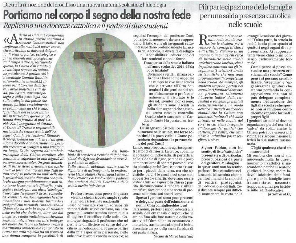 2014-10-31 Vita Nuova pagina 6 Su crocefisso rimosso