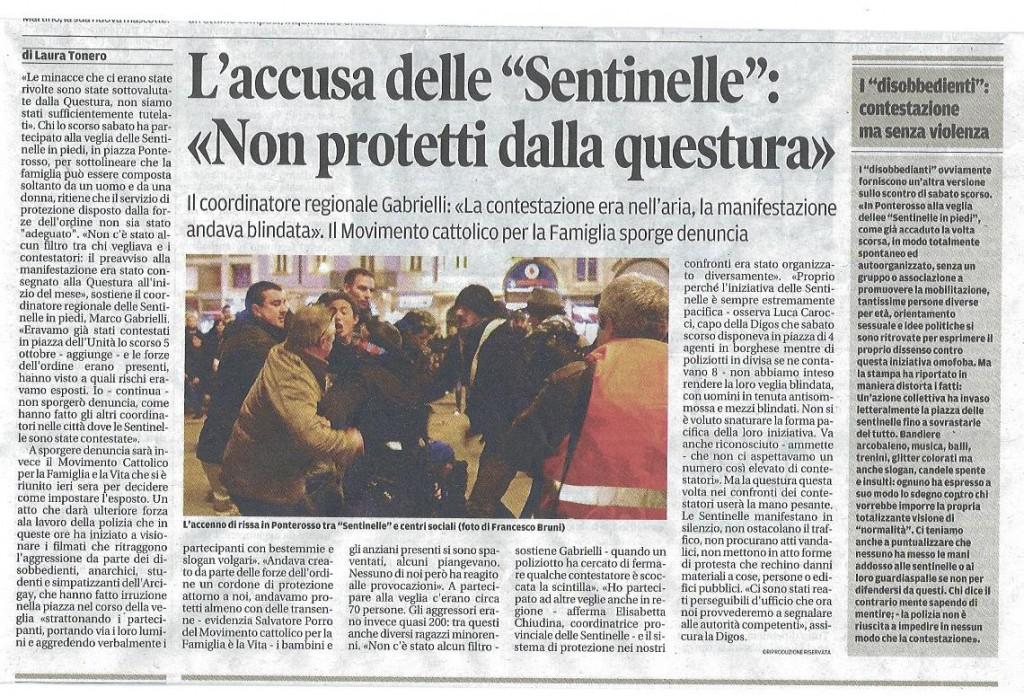 2014-11-25 Il Piccolo pagina 24 Accusa delle Sentinelle