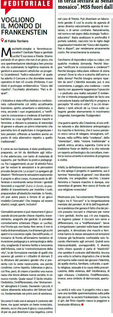 2015-03-11 La Croce editoriale su Il gioco del rispetto
