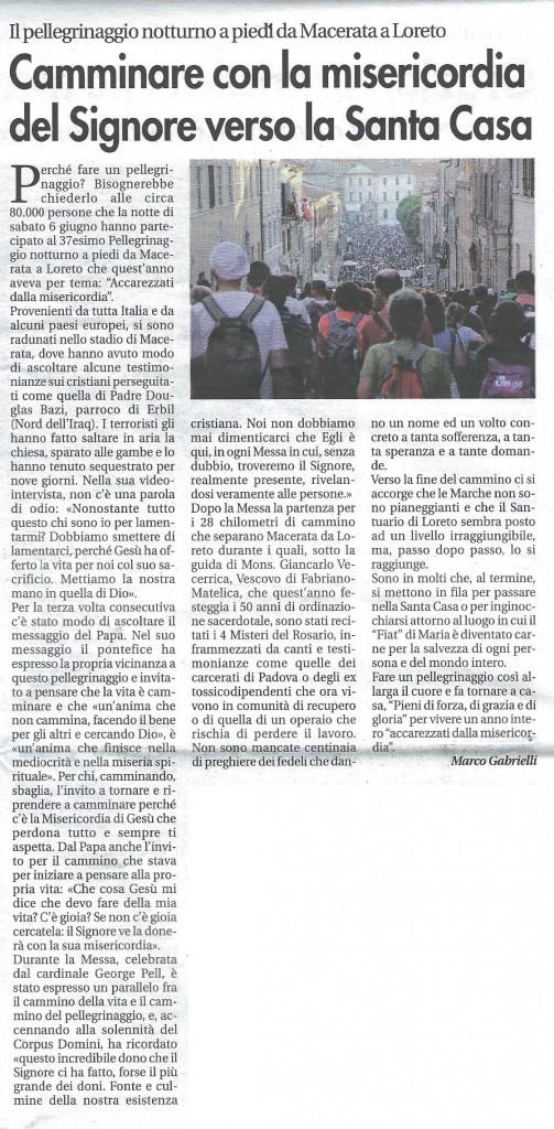 2015-06-12 Vita Nuova pagina 10 Pellegrinaggio Macerata Loreto