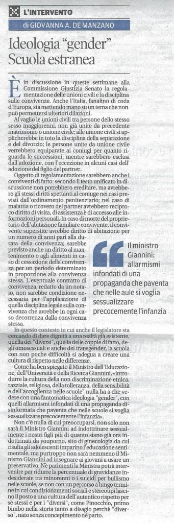 """""""Intervento"""" di Giovanna de Manzano"""